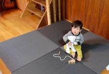 和紙素材の置き畳の写真