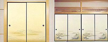 自然素材和紙襖:画像